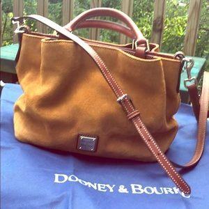 Dooney & Bourke caramel color suede handbag